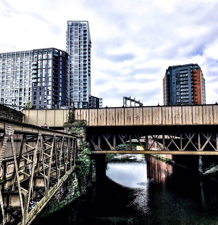 The view from Salford Bridge • Manchester City Centre