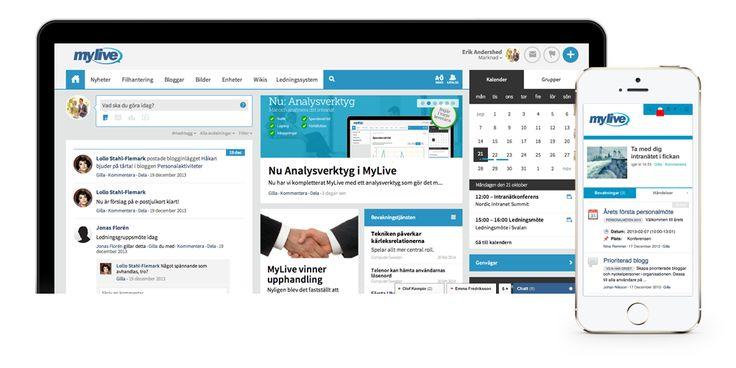 Socialt intranät med MyLive - Startsida