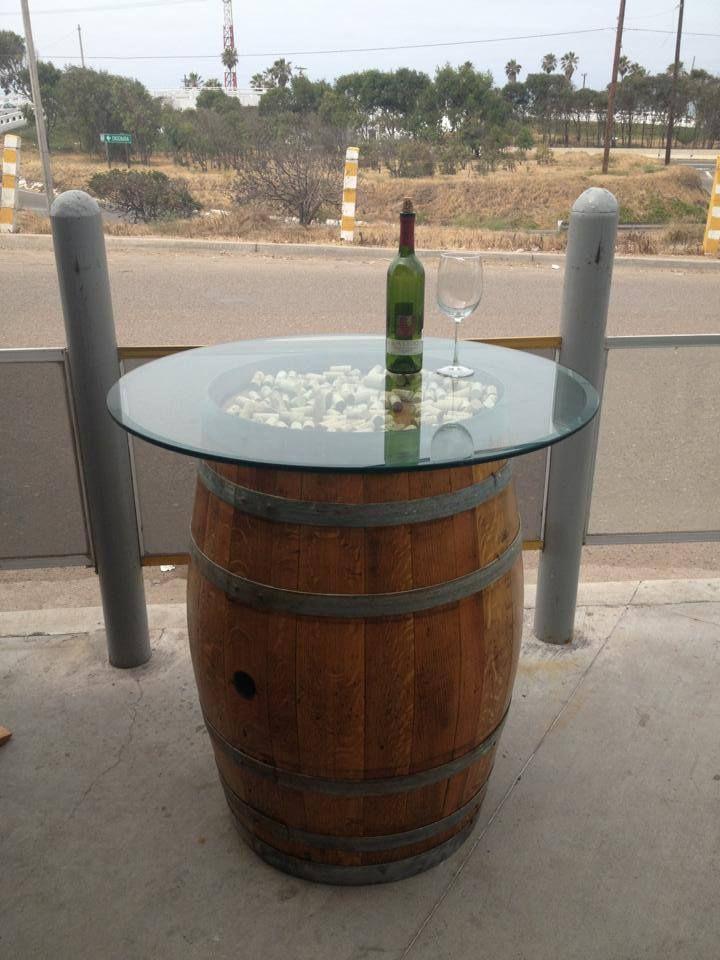 Wine Barrel Table Https Www Facebook Com