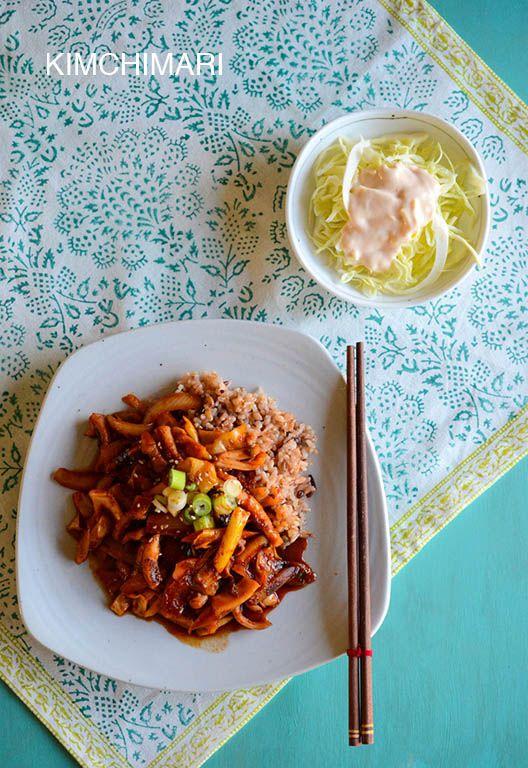 35 best korean food seafood images on pinterest korean food spicy squid stir fry recipe or ojingeo bokkeum is a simple easy korean dish to forumfinder Gallery