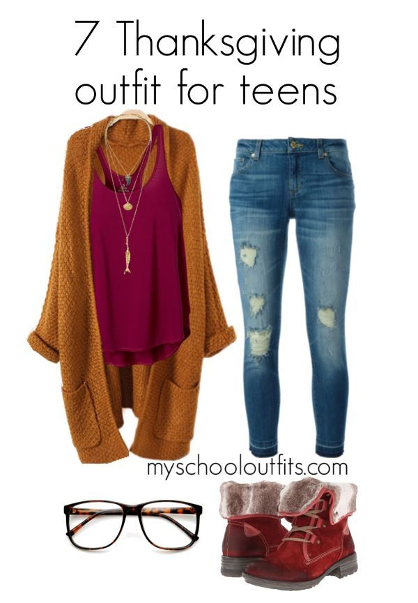 7 Cozy Thanksgiving Outfits For Teens Clothes Cute