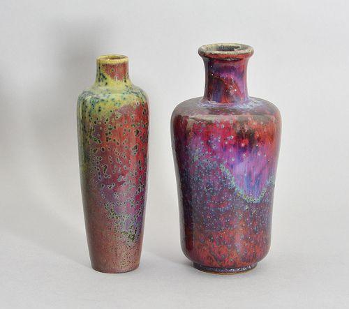 Ruskin High Fired Vases Pottery