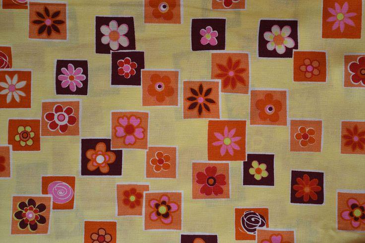 Baumwollstoff   Blumen   www.feendesign-shop.de