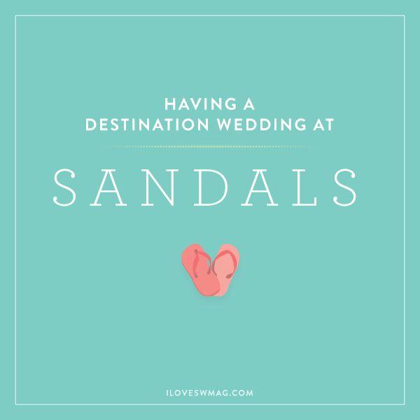 planning a destination wedding at Sandals