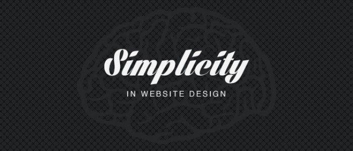 simplicity in website design - blog post