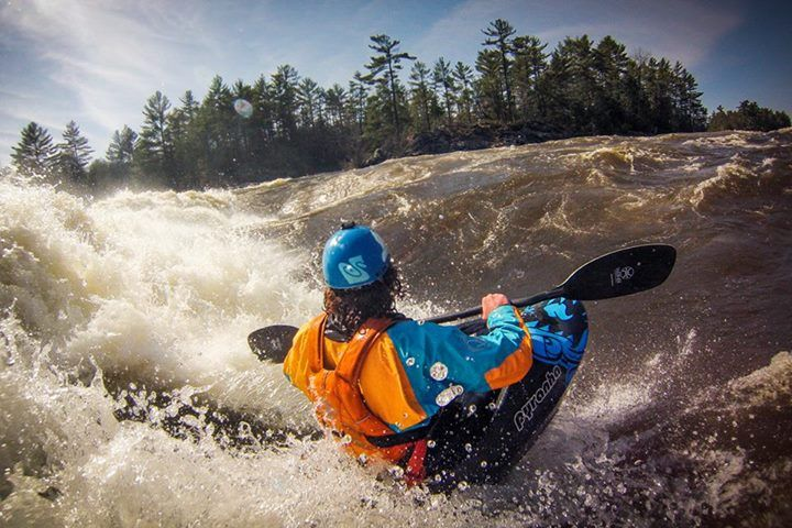 Bren Orton on the Ottawa River in Ontario, Canada as he prepares for the Whitewater Grand Prix.