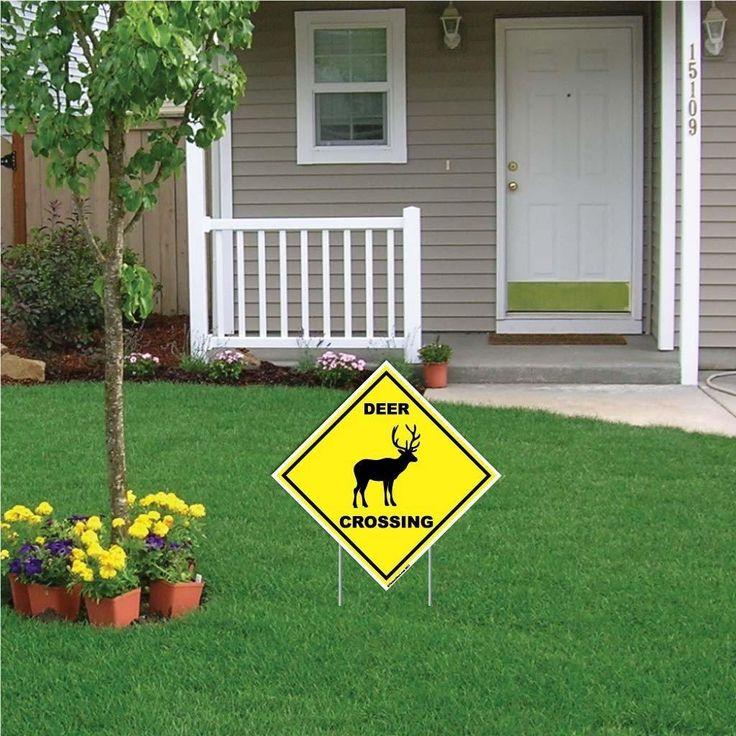 Deer Crossing Sign or Sticker