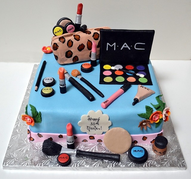 beauty makeup decorated cake - Decorated Cakes