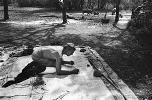 peter beard working on large scale