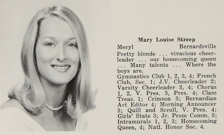 Meryl Streep presented the Best Actor Award to Daniel Day-Lewis at the Academy Awards last night – click to view her Homecoming Queen photo in the 1967 Bernard High School yearbook! http://www.classmates.com/yearbooks/Bernards-High-School/21413?page=122=79937