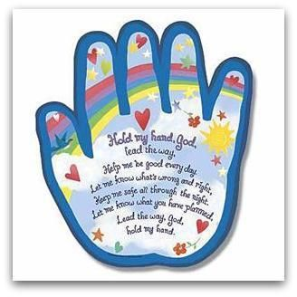 """Hold my hand God"" kids prayer must have on wall!!"