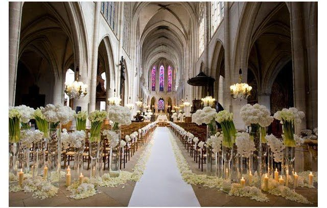 Wedding decorations on a miriam gourley : Mejores im?genes de iglesias decoradas para bodas en