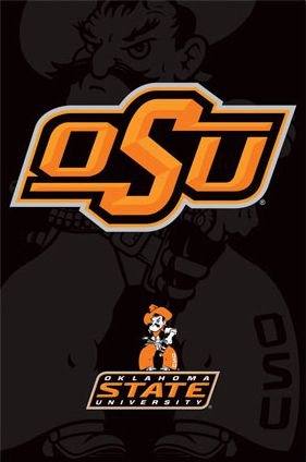 Oklahoma State University Cowboys Official NCAA Logo Poster- available at www.sportsposterwarehouse.com