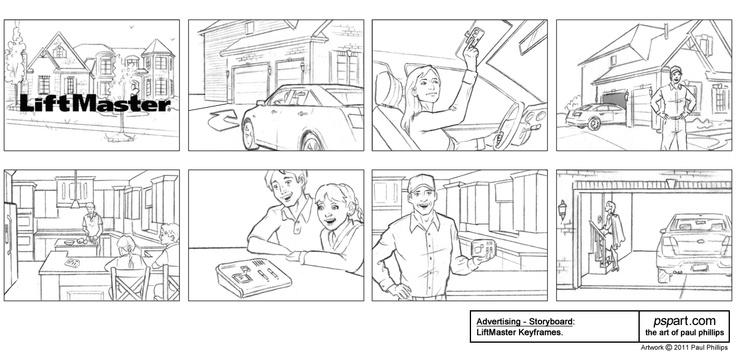 Paul Phillips - Advertising Storyboard Art Samples (5 Gum)   - commercial storyboards