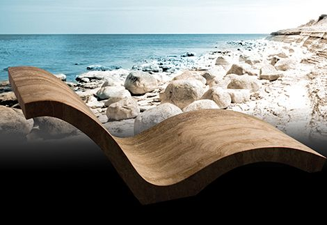 Natural Stone #Chaise Made From #Travertine