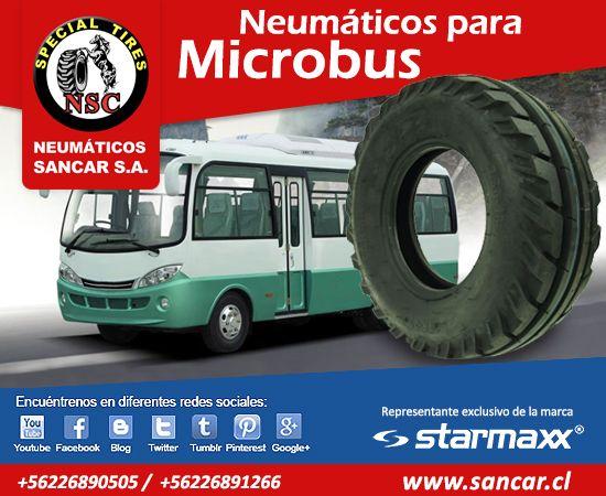 Necesita neumáticos para Microbuses? www.sancar.cl encontrará la más amplia variedad y los mejores precios
