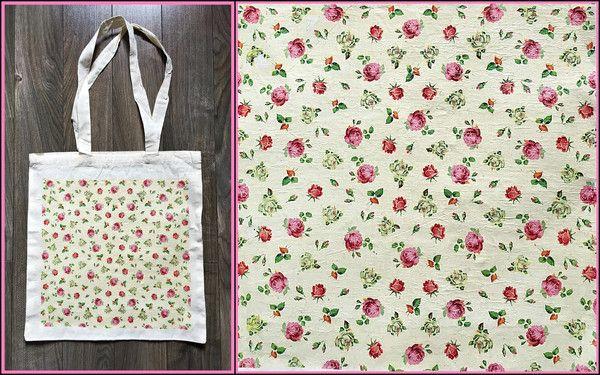 Taška plátěnka - Romantic rose bag