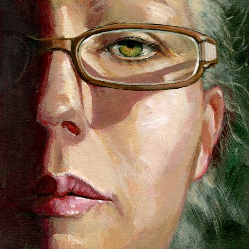 Original portrait painting of a woman by Lesley Spanos | SpanosStudio - Painting on ArtFire