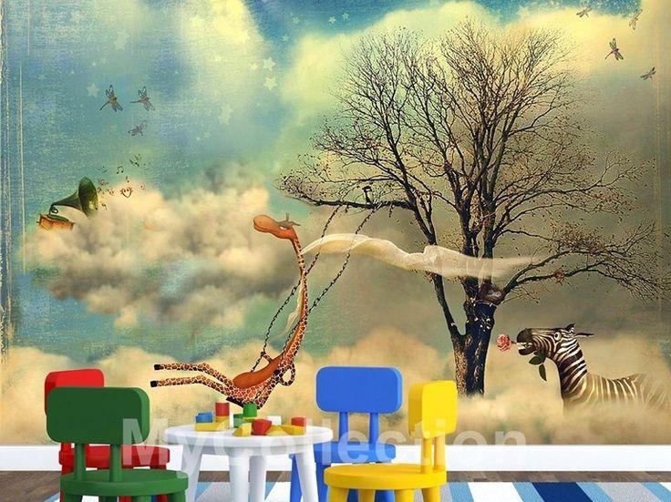 Papel de parede com paisagem para crianças MADAGASCAR Coleção Play Time by MyCollection.it | design MyCollection