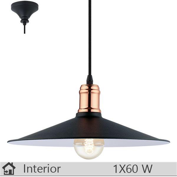 Lustra iluminat decorativ interior Eglo, gama Bridport, model 49452