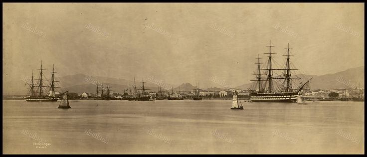 Λιμάνι Πειραιά, 1881. Φωτογραφία: Baron Paul des Granges.