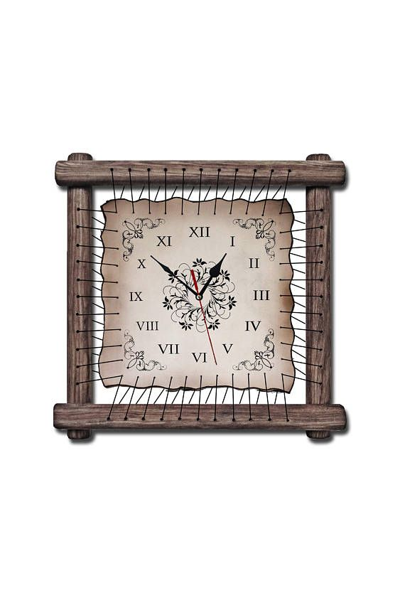 unique wall clocks rustic wall decor brown clock