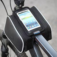 Roswheel 1.8L ciclismo bici delantera del bolso del tubo Pannier doble bolsa para 5in 5.5in teléfono móvil accesorios de bicicletas envío gratis