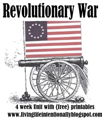 revolutionary war lapbook and lesson ideas | Living Life Intentionally (site also has colonial america study)