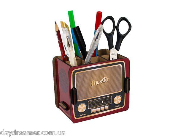 Органайзер для ручек и карандашей Винтажное Радио – Vintage Radio Box