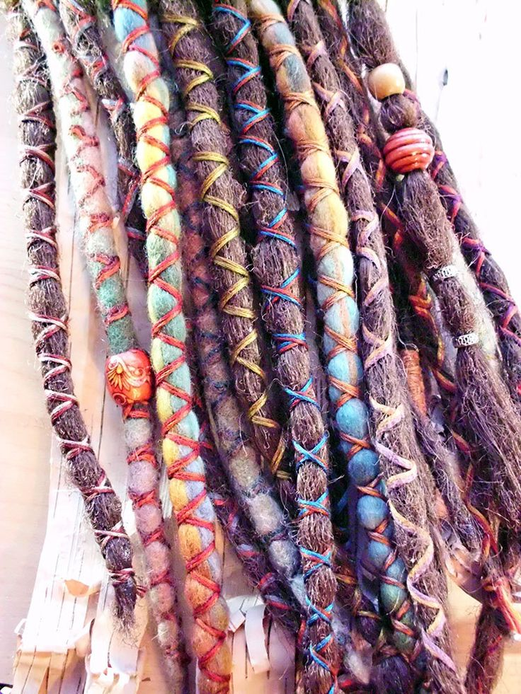 10 Custom Dreads Hair Wraps & Beads Bohemian Hippie Dreadlocks Tribal Falls Synthetic Boho Extensions Hair Accessories.