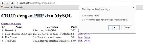 Tutorial PHP & MySQL : CRUD Part 2