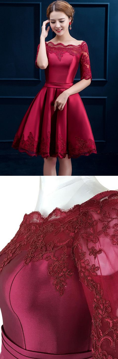 Short Prom Dresses, Burgundy Prom Dresses, Sexy Prom dresses, Prom Dresses Short, Prom Short Dresses, Short Homecoming Dresses, Short Sleeve Prom Dresses, Burgundy Homecoming Dresses, Sexy Homecoming Dresses, Sexy Party Dresses, Short Sleeve Homecoming Dresses, Pleated Homecoming Dresses, Knee-length Homecoming Dresses
