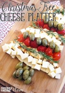 Need an easy Christmas appetizer idea? In just minutes, you'll be able to create this Christmas Tree Cheese Platter that is guaranteed to impress your guests.