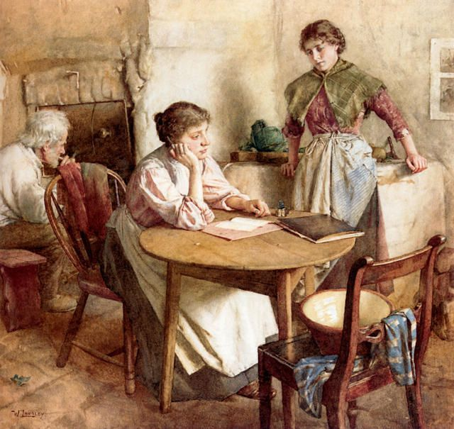 Far Away Thoughts ~ Walter Langley ~ (English: 1852-1922)