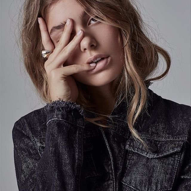 One glance and we're hooked | Oh, girl. An editorial by @russhmagazine | Featuring model Cami Morrone in our Fray Jacket Razor | Online and instore now #NobodyDenim