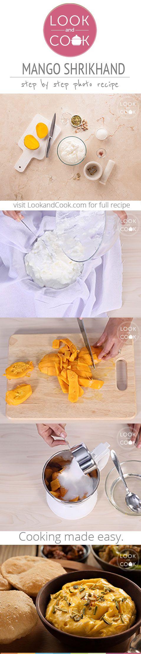 MANGO SHRIKHAND RECIPE (LC14302) : This recipe often made during the mango season is made of hung yogurt & mangoes.