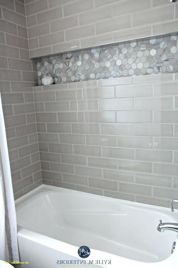 Grey Subway Tile Shower Gray Subway Tile Bathroom With Elegant