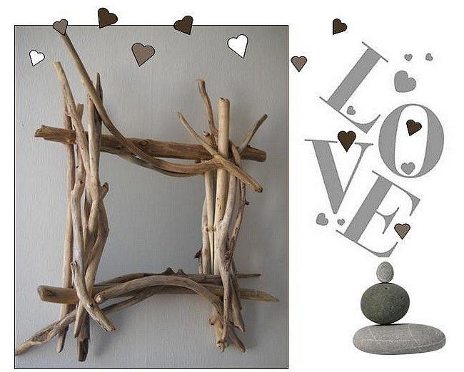 Les 17 meilleures images du tableau en bois flottes sur for Fabriquer un cadre photo en bois flotte