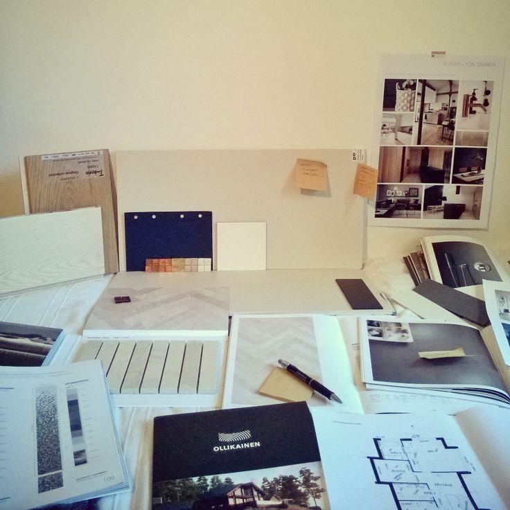 Designing Villa Kapee materials 2014 - Interior Architect Hanna-Marie Naukkarinen. #asuntomessut2015