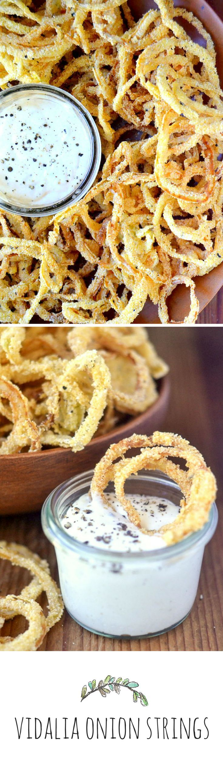 Vidalia Onion Strings with Horseradish Aioli. Don't do game night without these! Airfry at 200 Celsius until crispy.