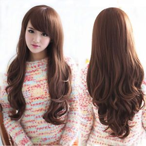 Женские длинные волнистые волосы полный парик костюм косплей красивая парики теплоизоляционный слой cospay парики
