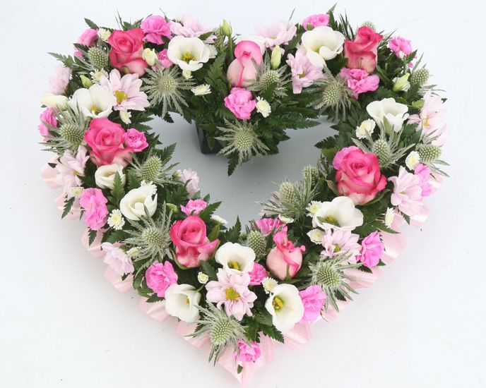 funeral flowers | pink-and-white-mixed-heart-funeral-flowers-sheffield.jpg