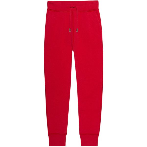 DSQUARED2 Jogger Red // Cotton sweatpants (€269) ❤ liked on Polyvore featuring activewear, activewear pants, drawstring sweat pants, slim fit sweatpants, red sweatpants, cotton activewear and cotton sweatpants