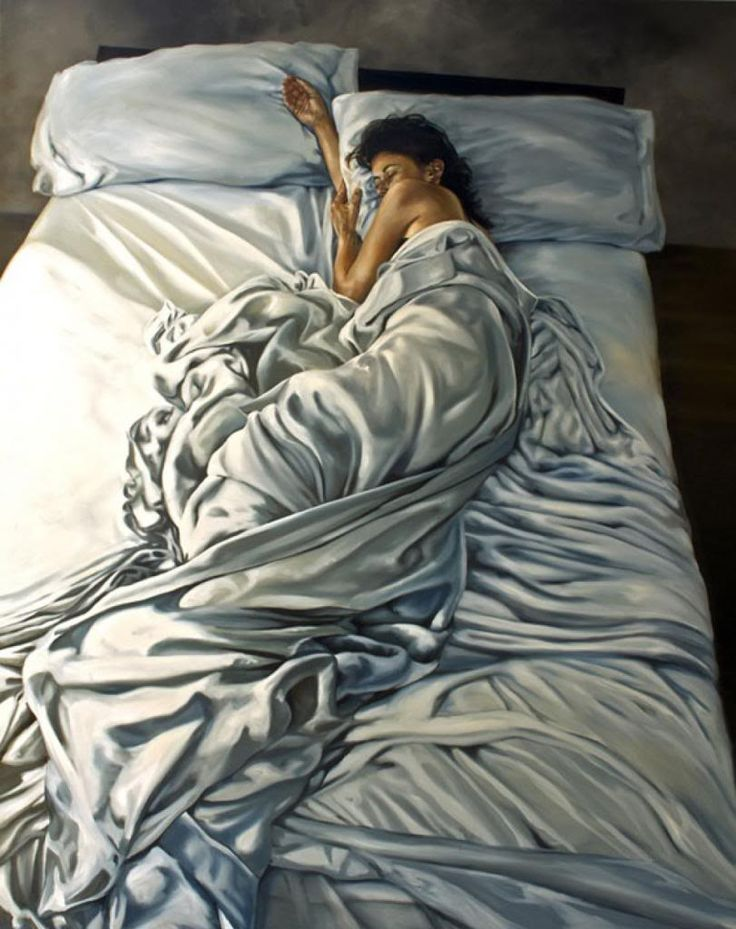 life-like painting by Eric Zener #art #bed #sleeping