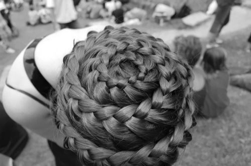 Spiral braid to the extreme. Hair piece for sure.