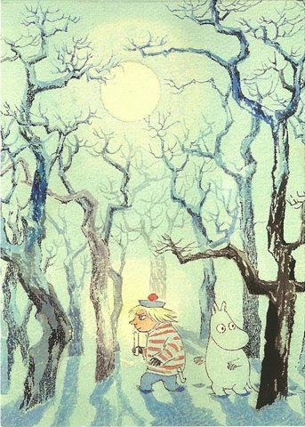 "Tove Jansson, ""Winter Magic"". Tuve itself drew the illustrations for her  books."