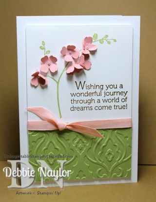 Unfrogettable Stamping | Quick & Easy World of Dreams dimensional flower card