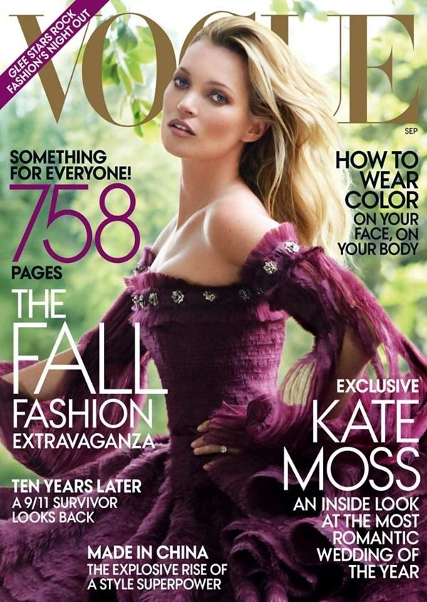 Kate Moss covers 2011 September issue