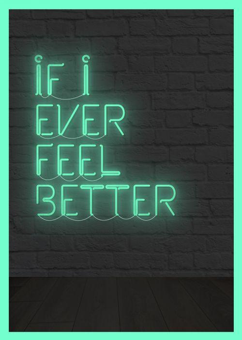 Typography neon lights