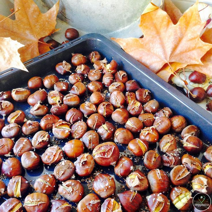 Castanhas Assadas no Forno | Roasted chestnuts in the oven